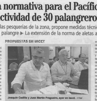 Una nueva normativa para el Pacífico pone en riesgo la actividad de 30 palangreros gallegos