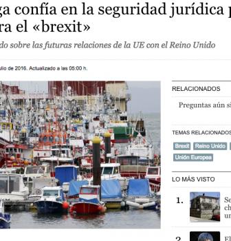 La pesca gallega confía en la seguridad jurídica para blindarse contra el «brexit»