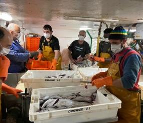 La flota de OPROMAR continúa comprometida con el abastecimiento de pescado.
